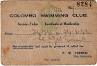 Colombo Swimming Club Card